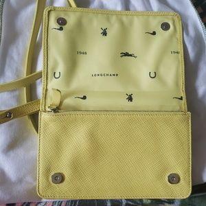 Longchamp Bags - LONGCHAMP Yellow Leather Crossbody Bag